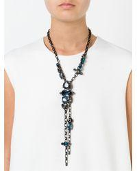 Lanvin | Blue Pending Chain Necklace | Lyst