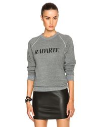 Rodarte - Gray Radarte Poly-blend Sweatshirt - Lyst