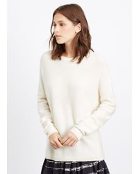 Vince - White Easy Fit Ribbed Boatneck Sweater - Lyst