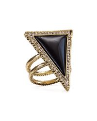 House of Harlow 1960 - Black 1960 Triangle Theorem Ring - Lyst