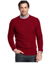 Geoffrey Beene | Purple Big And Tall Solid Basketweave Sweater for Men | Lyst