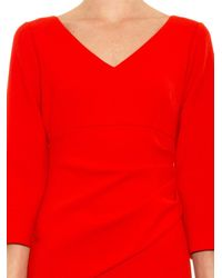 Diane von Furstenberg Red Bevin Shift Dress