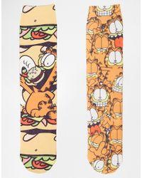 ASOS - Multicolor 2 Pack Socks With Garfield Design for Men - Lyst
