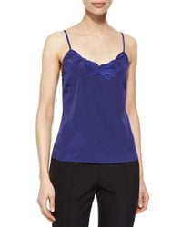 ESCADA - Blue Floral-embroidered Camisole - Lyst