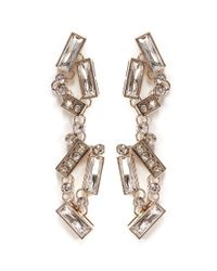 St. John | Metallic Abstract Drop Earrings | Lyst