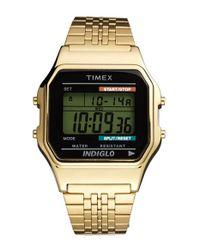 Timex Metallic '80 Classic' Digital Bracelet Watch