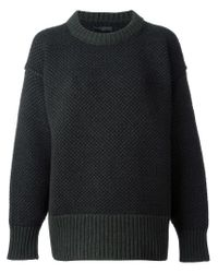 The Row - Green Loose Fit Crew Neck Sweater - Lyst