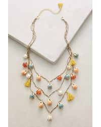 Anthropologie | Red Tundra Blossom Necklace | Lyst