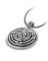 David Yurman | Metallic Labyrinth Large Disc Pendant With Diamonds | Lyst