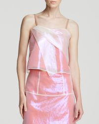 Marc By Marc Jacobs White Top - Cluster Cellophane Fold Drape