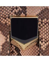 Jimmy Choo Lockett/m Black And Ballet Pink Degradé Python Handbag