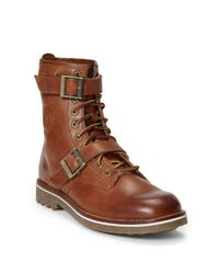 Polo Ralph Lauren | Brown Maurice Oiled Leather Boot for Men | Lyst