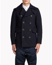 DSquared² | Blue Classic Peacoat for Men | Lyst