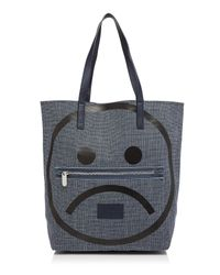 Marc By Marc Jacobs Blue Tote - Unsmiley