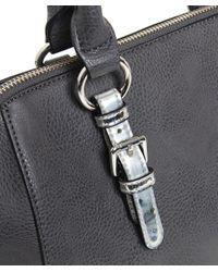 Armani Jeans - Gray Metallic Strap Doctor's Bag - Lyst