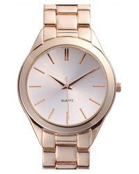 BP Metallic 'boyfriend' Bracelet Watch
