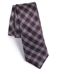 John Varvatos | Purple Plaid Silk Tie for Men | Lyst