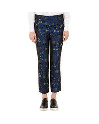 Mira Mikati Blue Women's Floral Jacquard Trousers