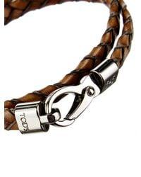 Tod's - Brown Woven Bracelet for Men - Lyst