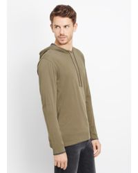 Vince Brown Double Layer Cotton Hoodie for men