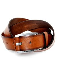 BOSS Black Bakaba Leather Belt for men