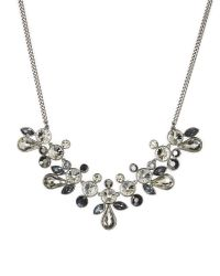 Givenchy | Metallic Silver-Tone Stone Statement Necklace | Lyst
