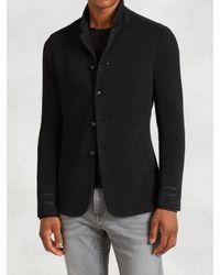 John Varvatos | Black Cotton Admiral Jacket for Men | Lyst