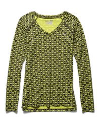 Under Armour | Green Women's Heatgear Armour Printed Long Sleeve | Lyst