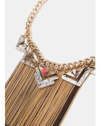 Mango - Metallic Monochrome Chains Necklace - Lyst