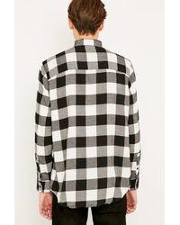 Cheap Monday - Neo Flannel Punk Black Check Shirt for Men - Lyst