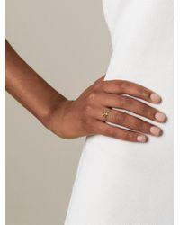 Bjorg Metallic 'T Alphabet Ring'