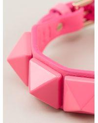 Valentino | Pink Rock Stud Bracelet | Lyst