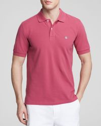 Brooks Brothers Pink Knit Slim Fit Polo for men