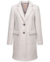 BOSS Orange - Gray Coat 'obecki' In New-wool Blend - Lyst