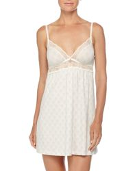 Eberjey - Gray Looking Glass Lace Chemise - Lyst