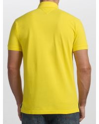Tommy Hilfiger Yellow 2 Button Polo Shirt for men