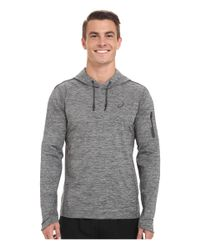 Asics | Gray Over Head Hoodie for Men | Lyst