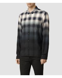 AllSaints | Gray Dip Shirt for Men | Lyst