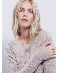 Free People - Brown Side Tie Pullover - Lyst