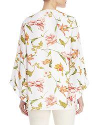 Fever White Printed Short Kimono