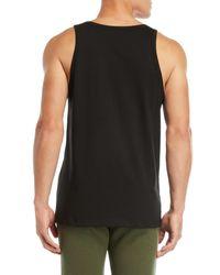 MSGM - Black Logo Tank Top for Men - Lyst