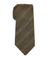 Burberry Green Olive Stripe Silk Tie for men