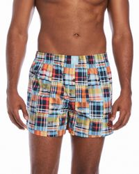 Psycho Bunny - Blue Printed Woven Boxer Briefs for Men - Lyst