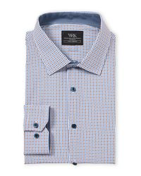 W.r.k. Blue Tattersall Sport Shirt for men
