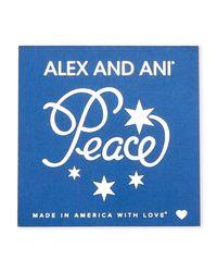 ALEX AND ANI | Two-Piece Gold-Tone & Blue Peace Bangle Set | Lyst