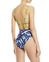 La Blanca Blue Island Mix One-piece Swimsuit