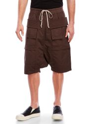 DRKSHDW by Rick Owens Brown Cargo Pods Shorts for men