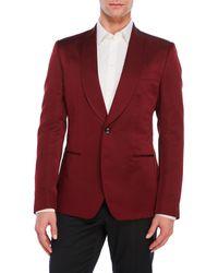 Dolce & Gabbana | Red Silk Shawl Collar Suit Jacket for Men | Lyst