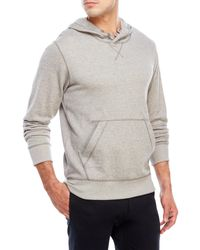 Bench   Gray Fluency Terry Knit Hoodie for Men   Lyst