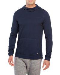 Bench | Blue Tinge Funnel Neck Knit Hoodie for Men | Lyst
